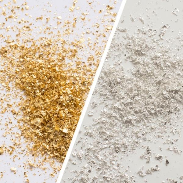 Goldflocken zum Streuen - Größe 2 Streuergröße