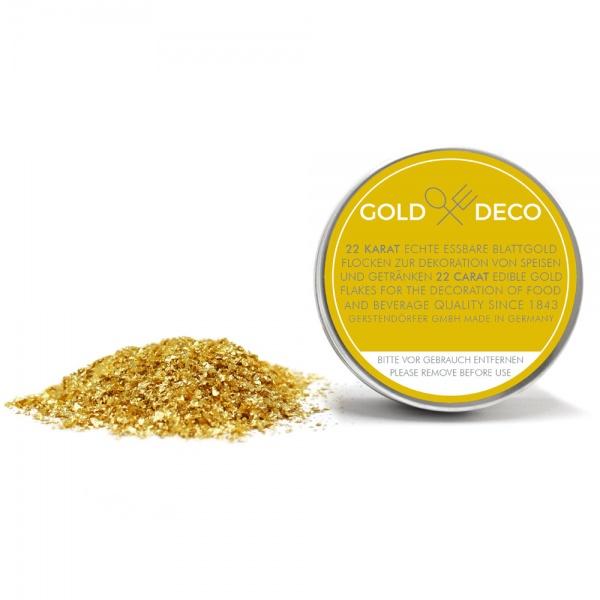 Gold Deco Blattgoldflocken 22 Karat