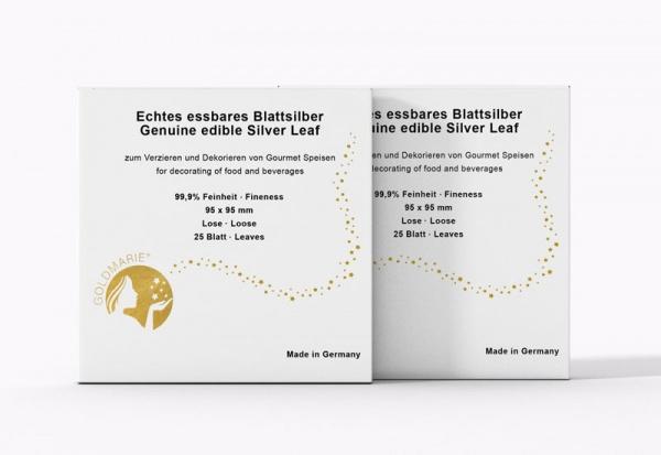 GOLDMARIE® Essbares Blattsilber transfer